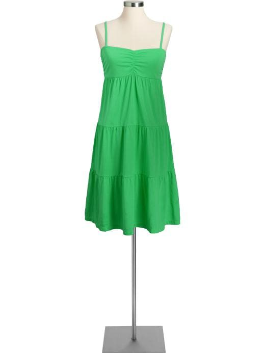 Women's Tiered Jersey Dresses | Old Navy :  a line knit summer empire waist
