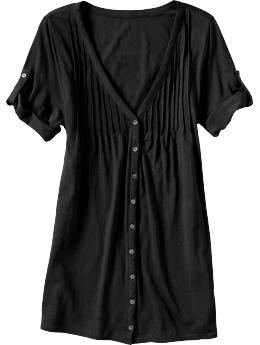 Women's Roll-Up Button-Front Tops (Old Navy)