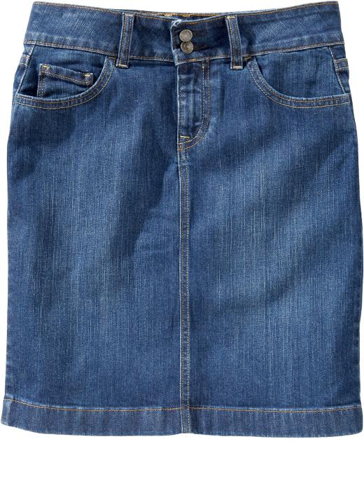 Old Navy Womens Double Button Denim Pencil Skirt