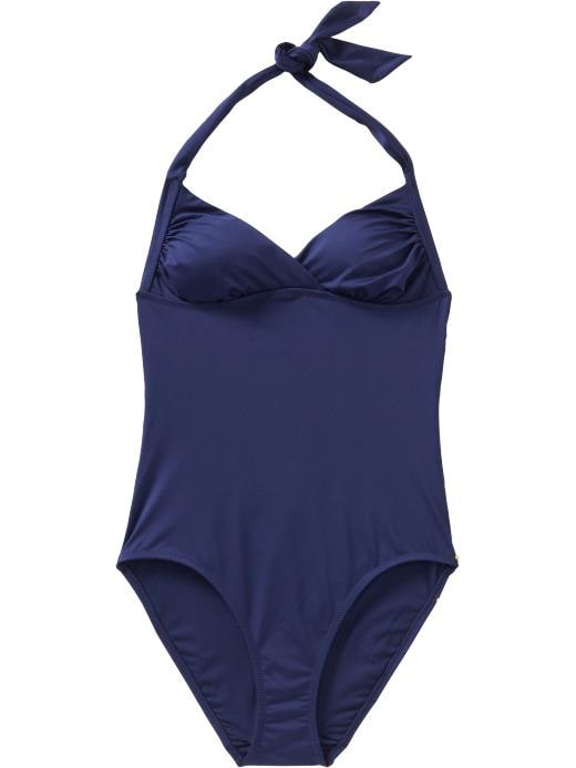 Old Navy Womens Cross-Front Halter Swimsuits