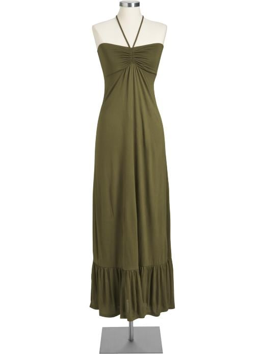 Women's Halter Tea-Length Dresses | Old Navy :  tea length strapless rayon clothing