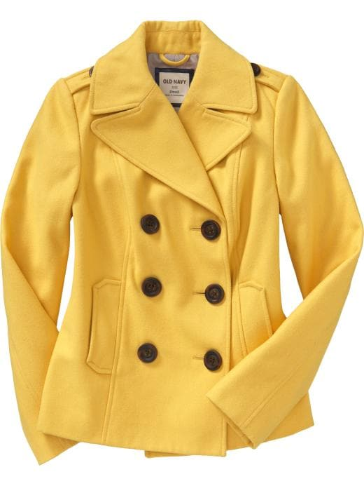 Old Navy Women's Cropped Woolblend Peacoats
