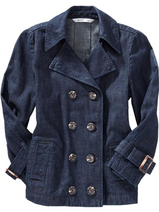 Old Navy Women's Cropped Buttonfront Trench Coats