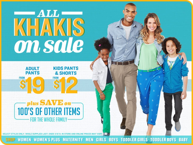 All Khakis on Sale
