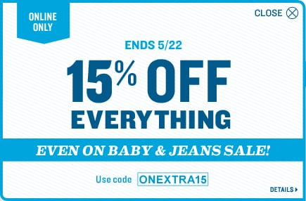 Save 15% with ONEXTRA15