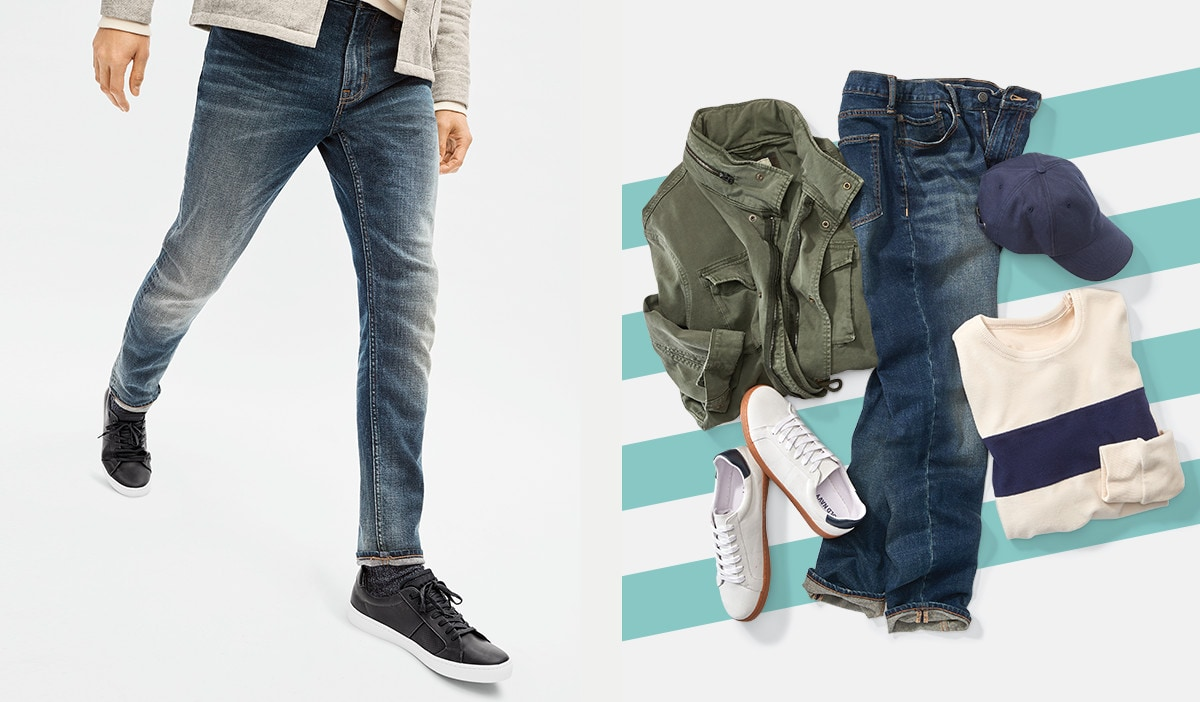 Down for the denim. Shop jeans.