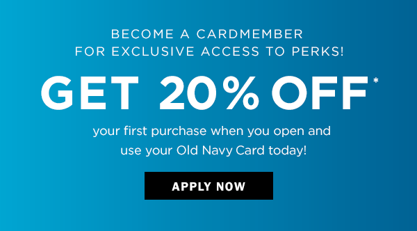 3824b26758 Become a cardmember and get in on the good deals! 20% off  your