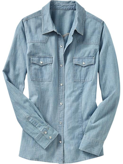 Old Navy Women's Western Chambray Shirt