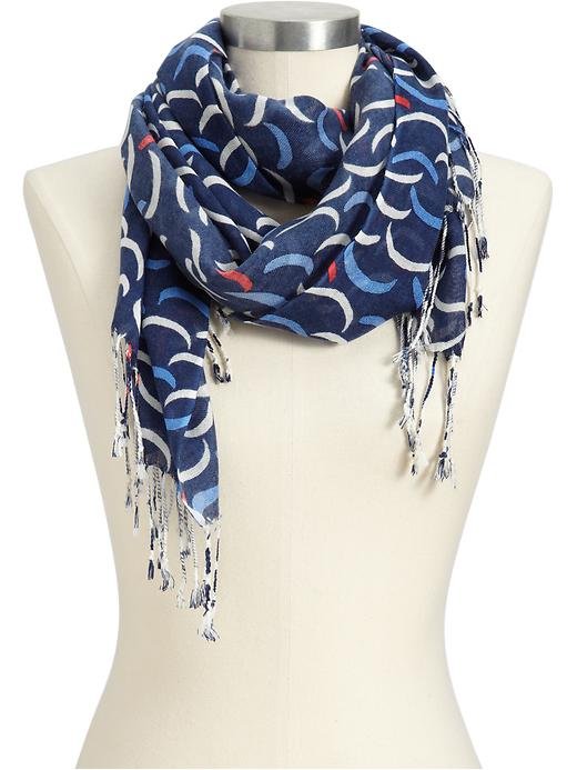 Old Navy Womens Lightweight Crescent Print Scarf