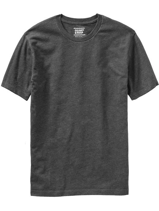 Classic Crew Neck Tee Shirt - Heather dark gray     Item#:898233102