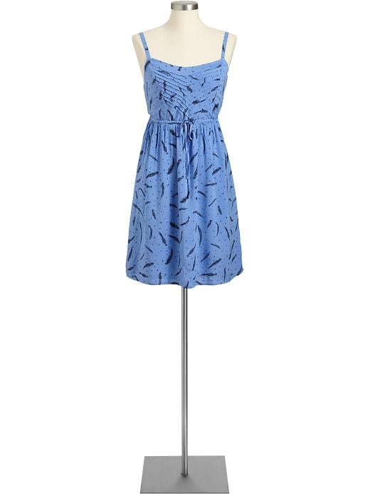 Old Navy Women's Feather Print Drawstring Sundresses