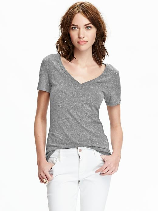 Old Navy Womens Vintage Style V Neck Tees - Medium gray