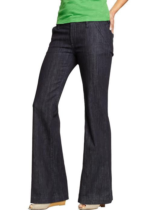 Old Navy Womens Wide Leg Trouser Jeans