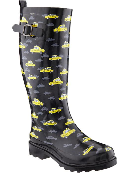 Old Navy Womens Printed Rain Boots