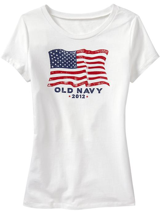 Old Navy Womens 2012' Flag Tee Shirt