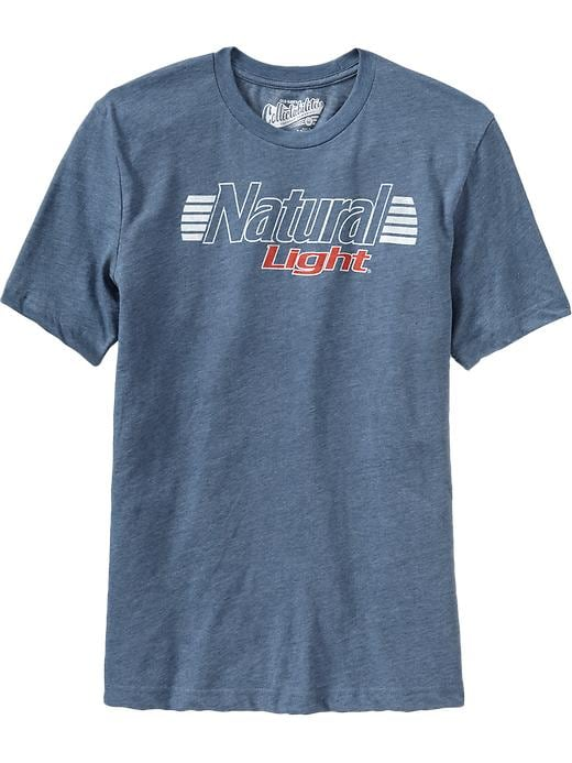 Old Navy Mens Natural Light Beer Tee Shirt
