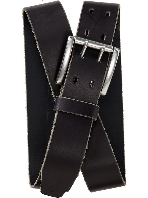 Old Navy Mens Double Prong Leather Belt