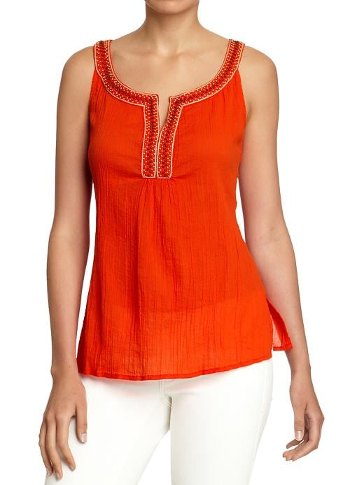 Old Navy Womens Beaded Gauze Tops