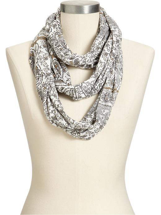 Old Navy Womens Paisley Infinity Scarves