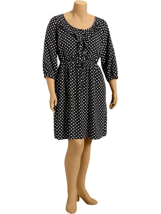 Old Navy Womens Plus Ruffled Polka Dot Dresses