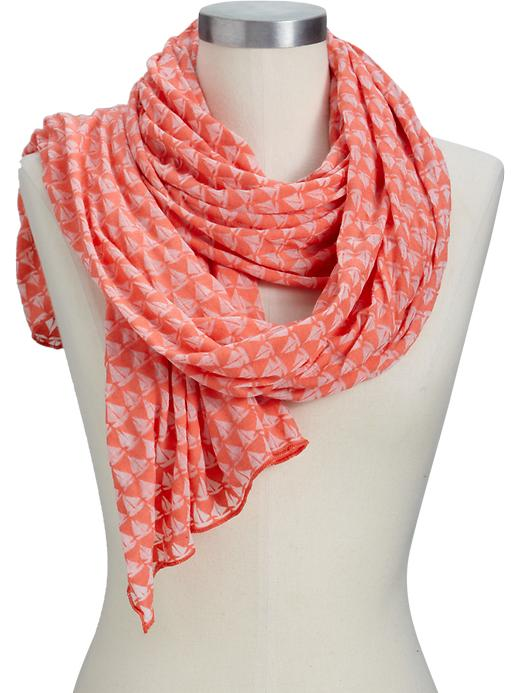 Old Navy Womens Lightweight Burnout Scarves