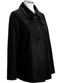 Maternity Wool-Blend Swing Coats