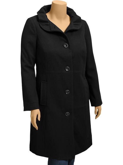 Old Navy Womens Plus Long Wool Blend Coats