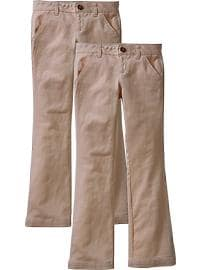 Girls Uniform Khaki 2-Packs