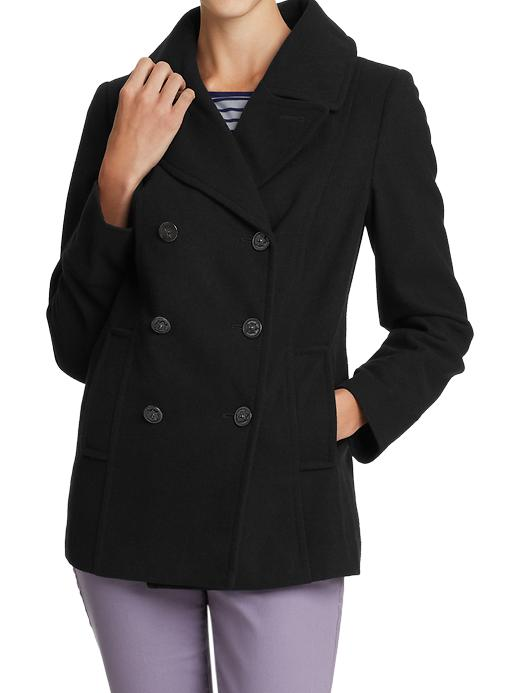 Old Navy Womens Classic Wool Blend Coats