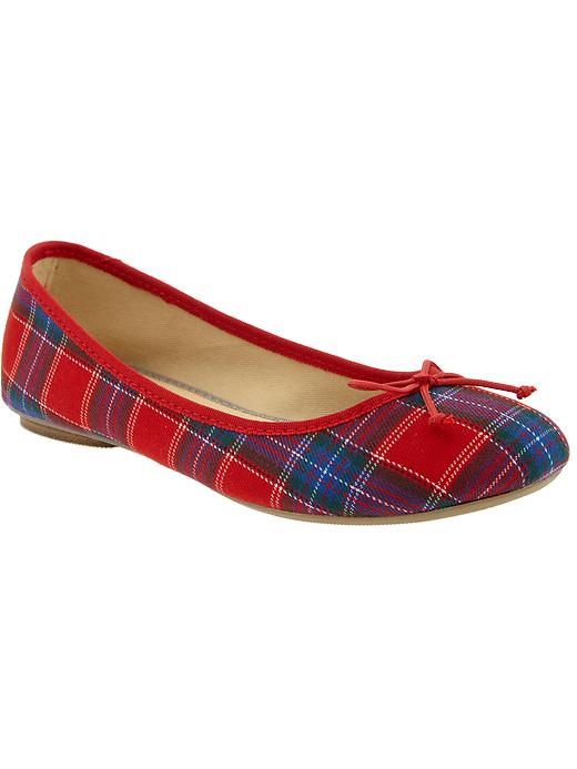 Old Navy Womens Plaid Ballet Flats