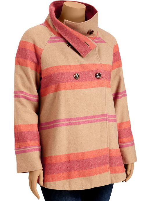 Old Navy Womens Plus Wool Blend Cape Coats