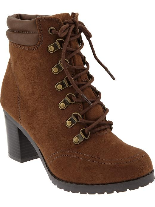 Old Navy Womens Faux Suede Hiker Boots