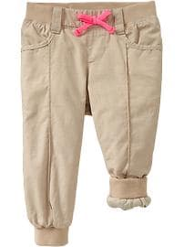 Jersey-Lined Poplin Pants for Baby