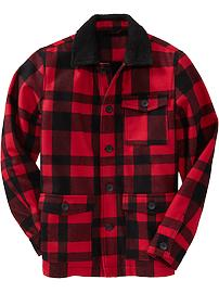 Men's Plaid Wool-Blend Barn Coats