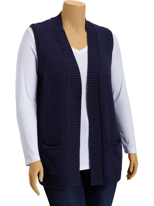 Old Navy Womens Plus Open Front Sweater Vests