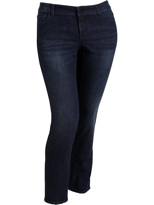 Old Navy Womens Plus Embroidered Pocket Skinny Jeans