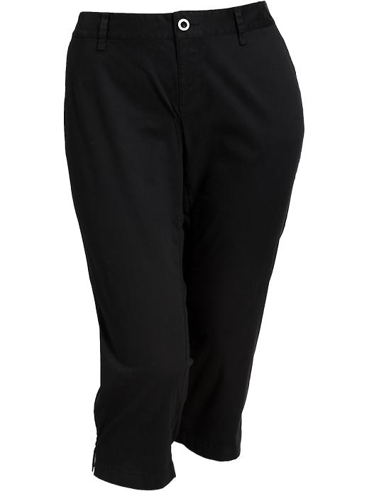 Old Navy Womens Plus Perfect Khaki Capris - Black jack