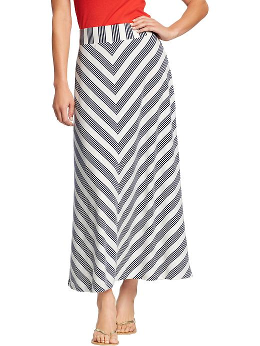 Old Navy Womens Chevron Stripe Maxi Skirts
