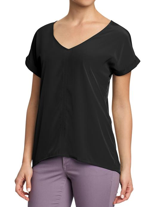 Old Navy Womens Crepe V Neck Blouses