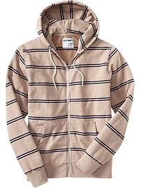 Men's Double-Stripe Fleece Hoodies