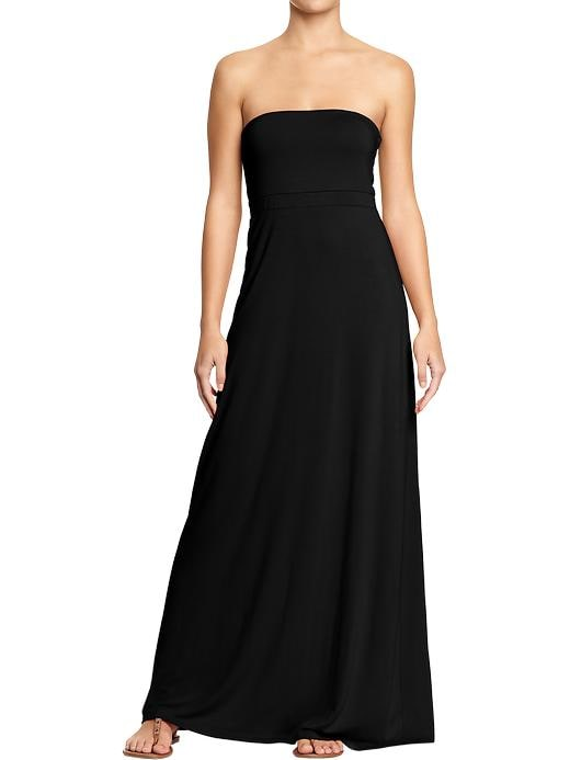 Old Navy Womens Convertible Maxi Tube Dresses - Black jack