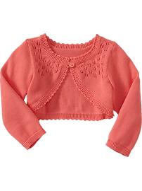 Cropped Pointelle Cardis for Baby