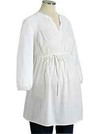 Maternity Pintucked Poplin Tunics