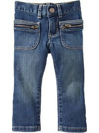 Zipper-Pocket Skinny Jeans for Baby