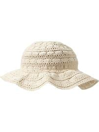 Crochet-Lace Sun Hats for Baby