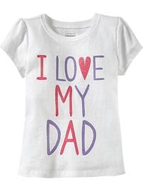 """I ♥ My Dad"" Glitter Tees for Baby"