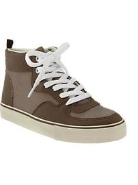 Boys Color-Blocked Canvas High-Tops