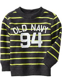 Logo-Stripe Terry Sweatshirts for Baby