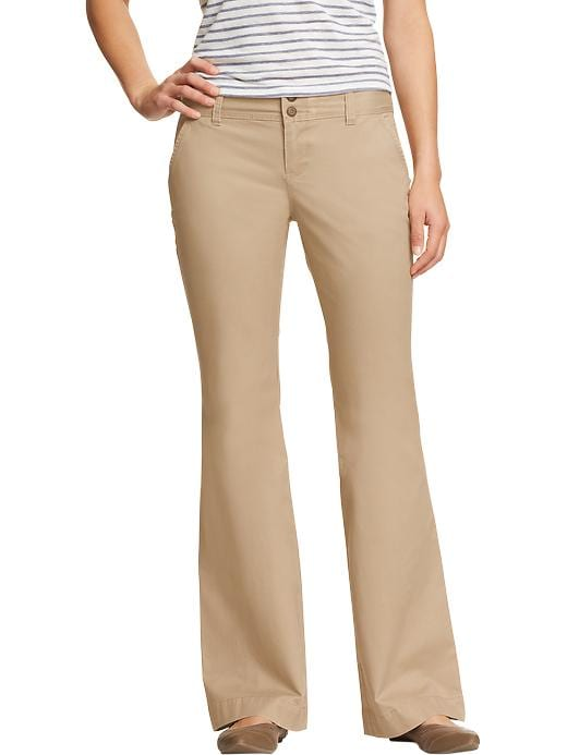 Old Navy Womens Ultra Flared Perfect Khakis