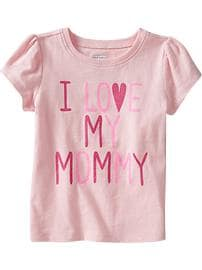 """I ♥ My Mommy"" Tees for Baby"